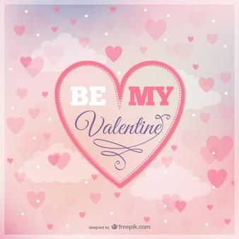 Sea mi tarjeta de felicitación de San Valentín