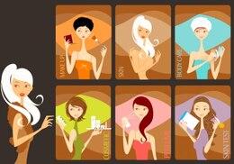 Beauty Girls - Arte Vector libre