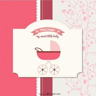 bebé de dibujos animados tarjeta de vectores