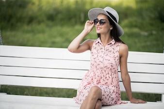 Bebida belleza sol gafas de sol
