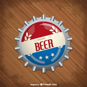 Chapa de botella de cerveza vectorial