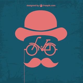 Bicicleta y sombrero retro