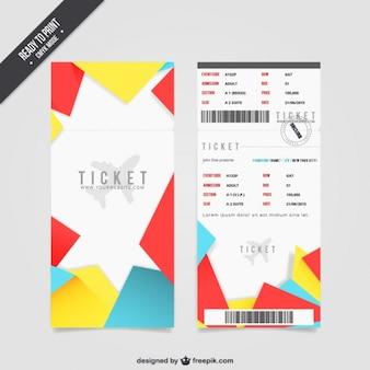 Billete de la tarjeta de embarque