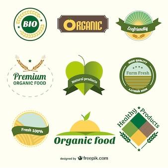 Insignias de orgánicos bio
