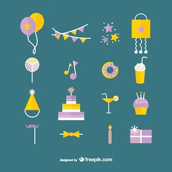 Colección de iconos de cumpleaños