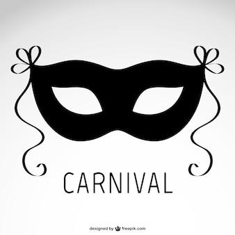 Máscara negra de carnaval