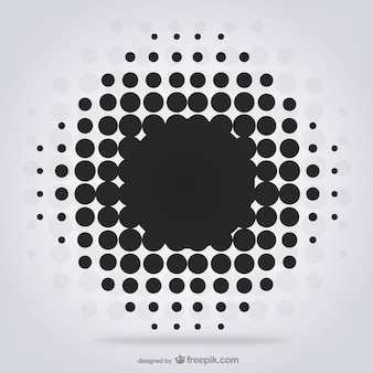 Fondo con puntos negros