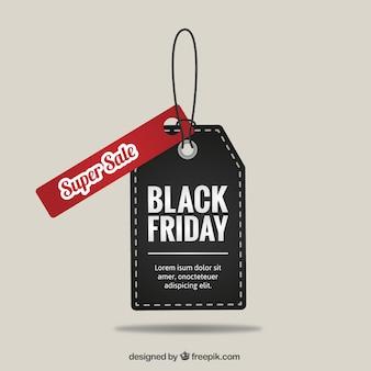 Etiqueta de súper oferta de Black Friday