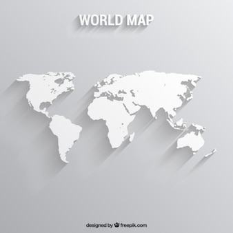 Blanco mapa del mundo