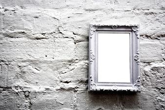 Blanco marco vacío con copia espacio libre.