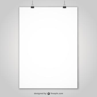 Cartel publicitario en blanco