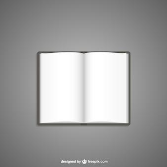Ilustración de libro en blanco