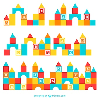 Bloques de construcción de colores