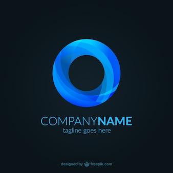 Plantilla de logotipo abstracto azul