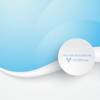 Azul y blanco ilustración vector de onda