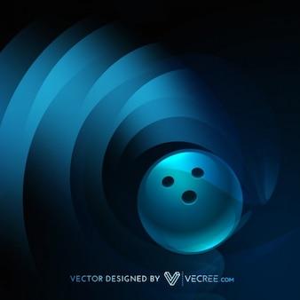 Bolos Bola azul del vector