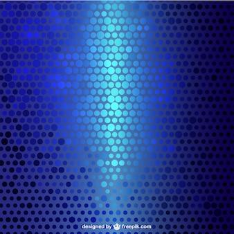 Patrón de fondo de círculos azules