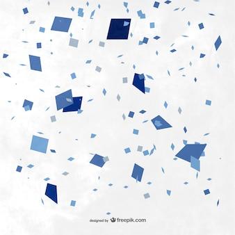 Fondo con confeti azul