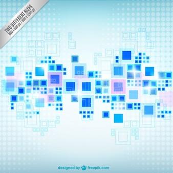 Fondo geométrico de cuadrados azules