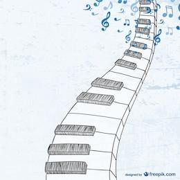 Boceto de teclado de piano