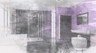 Boceto de una casa