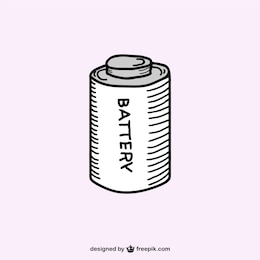 Boceto retro de batería