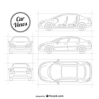 Bocetos de coche vectorial