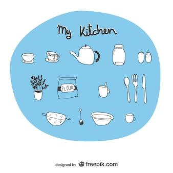 Bocetos utensilios de cocina