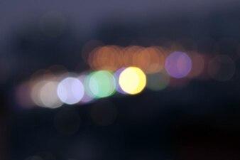 Bokeh luces en la noche