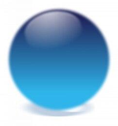 bola de cristal azul