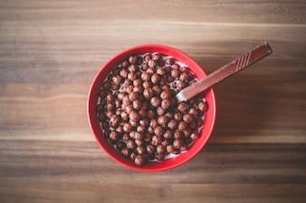 Bolas de cereales de chocolate