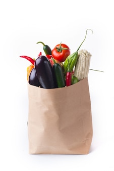 Bolsa con verduras