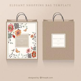 Bolsa de compras floral