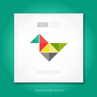 Cubierta de libro con pájaro origami