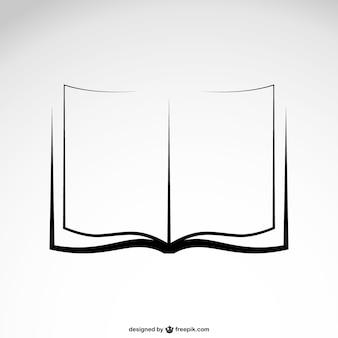 Libro vector boceto