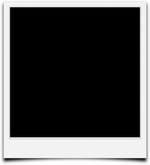 Borde de contorno cámara de fotograma en blanco