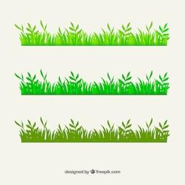 Bordes de hierba verde