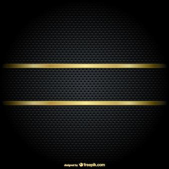 Bordes de oro sobre fondo negro