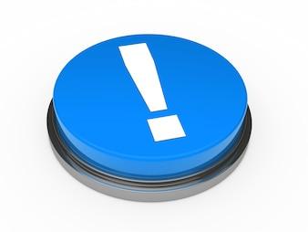 Botón azul con una admiración