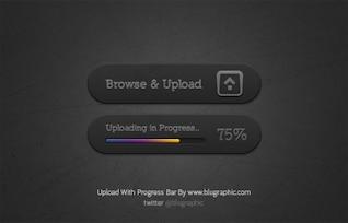 Botón con la barra de progreso de carga