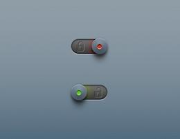 Botón de bloqueo del candado control deslizante de desbloqueo