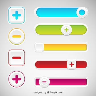 Botones coloridos