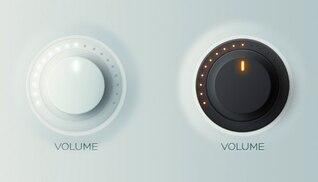 Botones de control en versión ligera y oscura