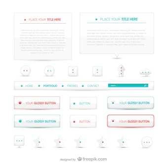 Botones web minimalistas