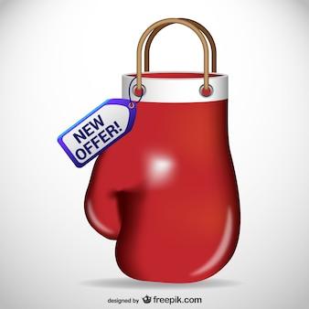 Bolsa de la compra con forma de guante de boxeo