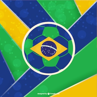Plantilla de fútbol con bandera de Brasil
