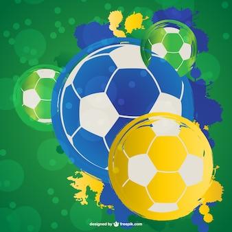 Fondo con balones de fútbol de colores