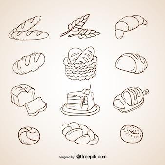 Colección de garabatos de panes