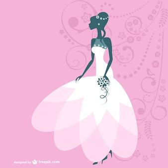 Ilustración vectorial de novia