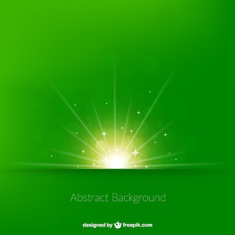 Fondo de brillante amanecer en tono verde